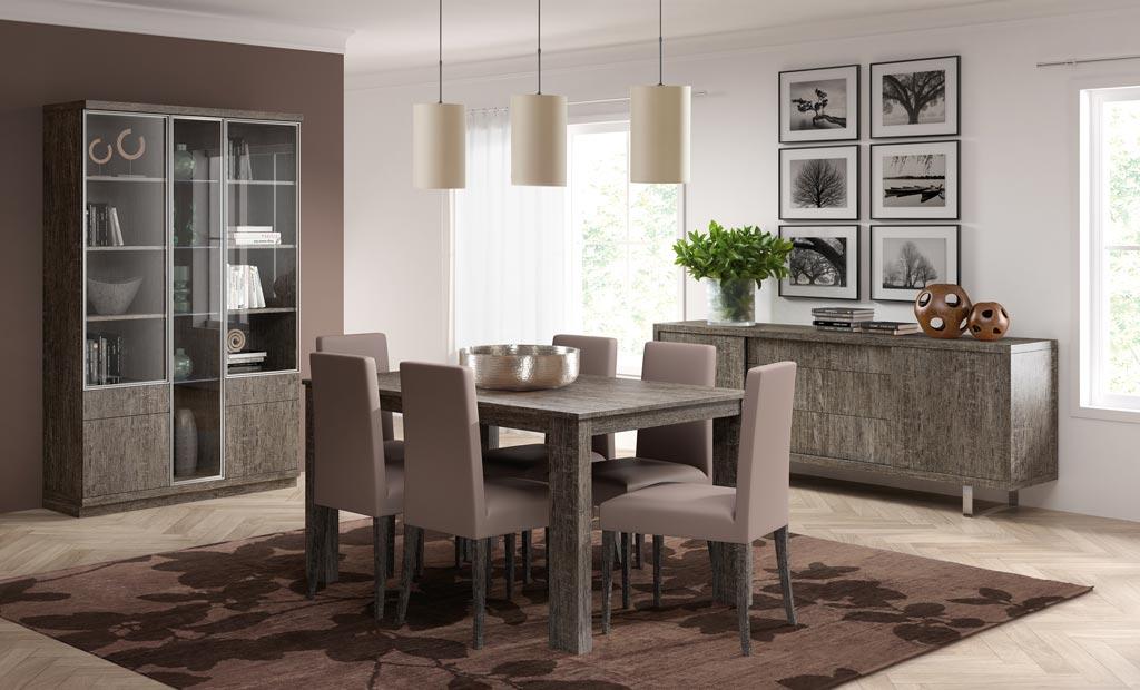Salones y comedores todo a medida carpintero jerez for Mesas y sillas para salon comedor